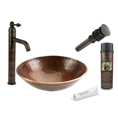 Handmade Vessel Sink and Single Handmade Vessel Faucet Package (Mexico)