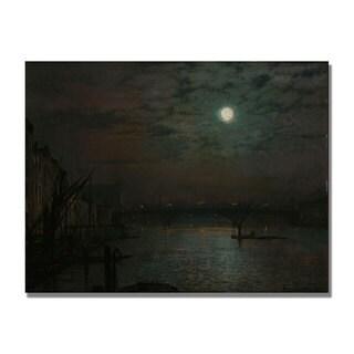 John Grimshaw 'Southwark Bridge by Moonlight' Canvas Art