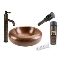 Premier Copper Products PVRDW18 Single Handle Vessel Faucet Package
