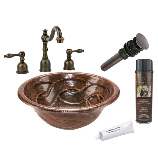 Premier Copper Products LR17RBDDB Widespread Faucet Package