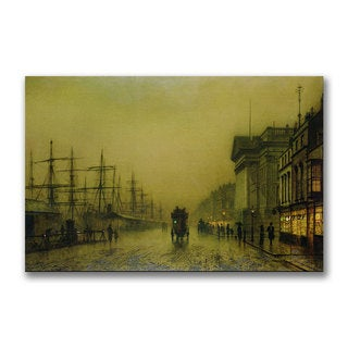 John Grimshaw 'Liverpool Docks Custom House' Canvas Art