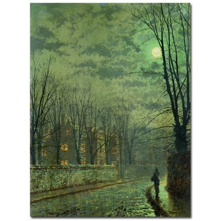 John Atkinson Grimshaw 'Going Home by Moonlight' Canvas Art