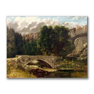Gustave Courbet 'The Pont de Fleurie' Canvas Art