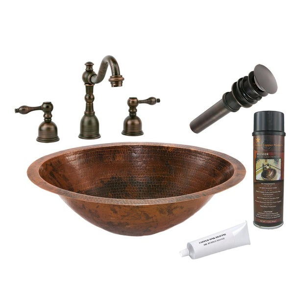 Premier Copper Products Oil Rubbed Bronze Bathroom Sink Faucet And Package