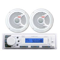 "In-Dash Marine iPod/MP3 USB/SD AM/FM Receiver Headunit + 2 x 6.5"" 150W Speakers"