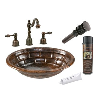Premier Copper Products LO19RBKDB Widespread Faucet Package