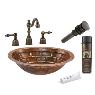 Premier Copper Products LO19FBKDB Widespread Faucet Package