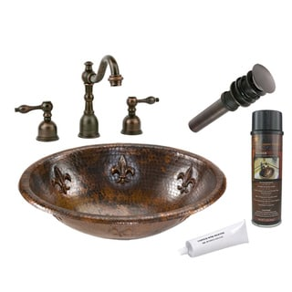 Premier Copper Products LO19RFLDB Widespread Faucet Package