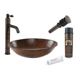 Premier Copper Products VO17WDB Single Handle Vessel Faucet Package