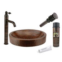 Premier Copper Products VO17SKDB Single Handle Vessel Faucet Package