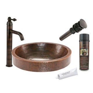 Premier Copper Products VO18SKDB Single Handle Vessel Faucet Package