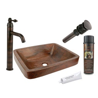 Premier Copper Products VREC19SKDB Single Handle Vessel Faucet Package