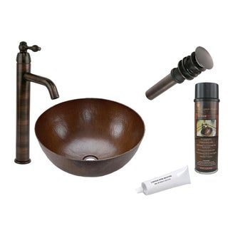 Premier Copper Products VR13BDB Single Handle Vessel Faucet Package