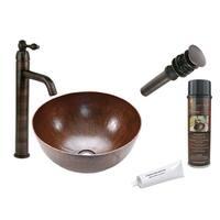 Premier Copper Products VR15BDB Single Handle Vessel Faucet Package