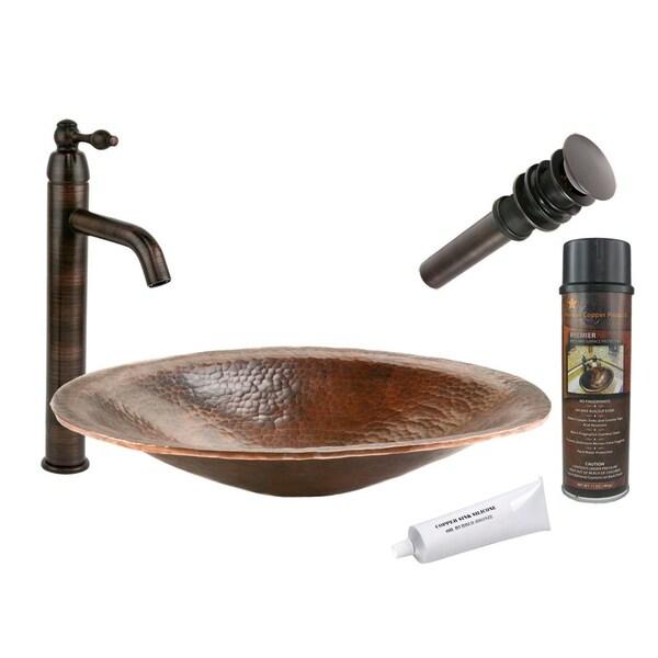Premier Copper Products Single Handle Oil Rubbed Bronze Vessel Faucet Package
