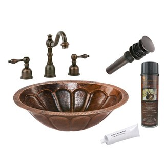 Premier Copper Products Sunburst Widespread Faucet Package