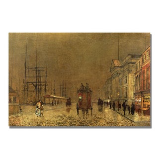John Grimshaw 'A Liverpool Street' Canvas Art