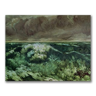 Gustave Courbet 'The Wave after 1870' Canvas Art