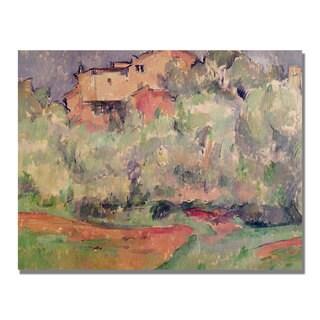 Paul Cezanne 'The House at Bellevue' Canvas Art