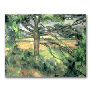 Paul Cezanne 'The Large Pine' Canvas Art