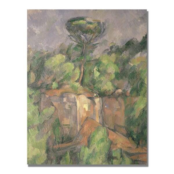 Paul Cezanne 'Bibemus Quarry' Canvas Art