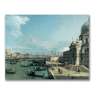 Canaletto 'The Entrance to the Grand Canal' Canvas Art