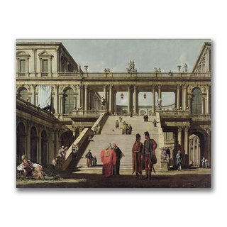 Canaletto 'Castle Courtyard 1762' Canvas Art