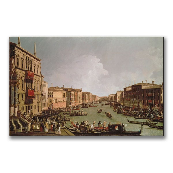 Canaletto 'A Regatta on the Grand Canal' Canvas Art