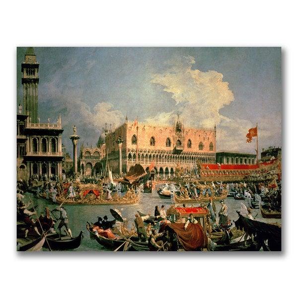 Canaletto 'Return of the Bucintoro' Canvas Art