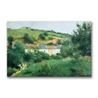 Camille Pissarro 'The Path in the Village' Canvas Art