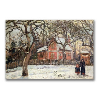 Camille Pissarro 'Chestnut Trees at Louveciennes' Canvas Art