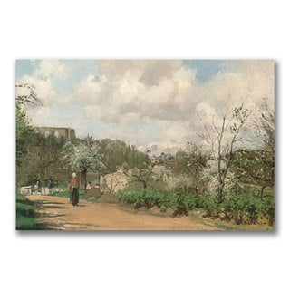 Camille Pissarro 'View from Louveciennes' Canvas Art