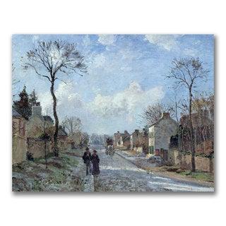 Camille Pissarro 'The Road to Louveciennes' Canvas Art