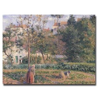 Camille Pissarro 'Vegetable Garden Pontoise, 1879' Canvas Art