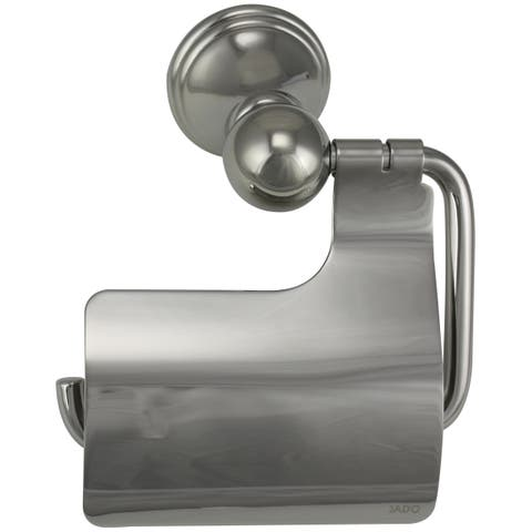 Jado Classic Victorian Platinum Nickel Hooded Toilet Paper Holder - Silver