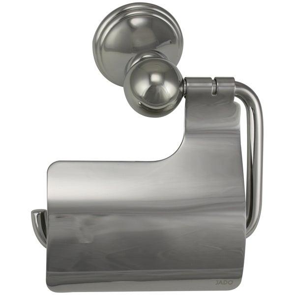 Jado Classic Victorian Platinum Nickel Hooded Toilet Paper Holder - Silver