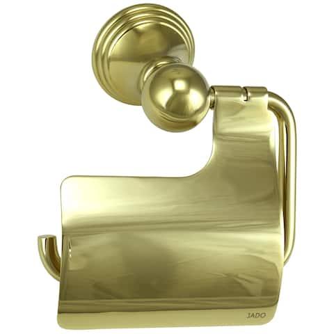 Jado Classic Hooded Diamond Gold Toilet Paper Holder