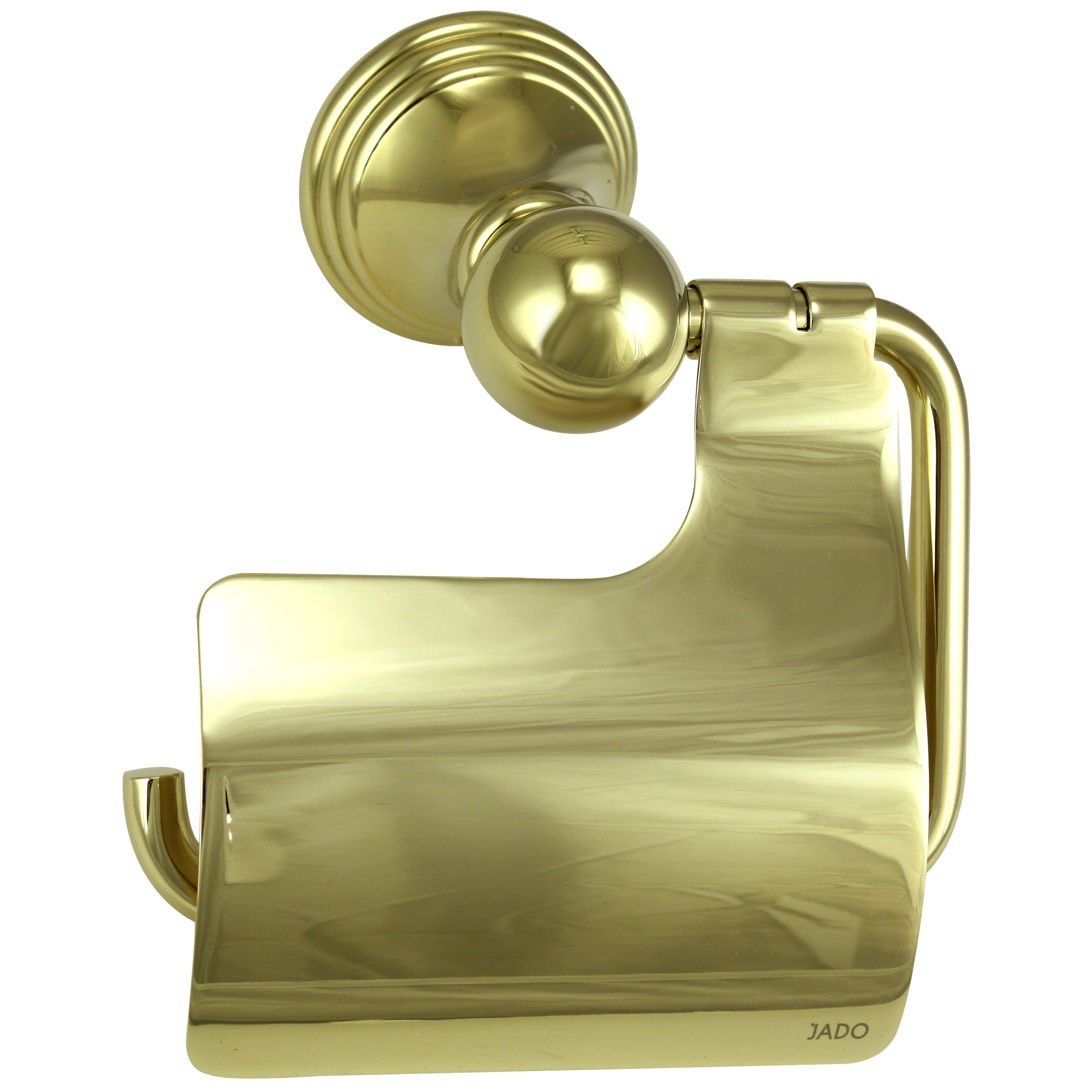 Jado Clic Hooded Diamond Gold Toilet Paper Holder