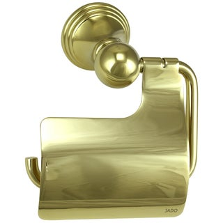 Jado Classic Hooded Diamond Gold Toilet Paper Holder