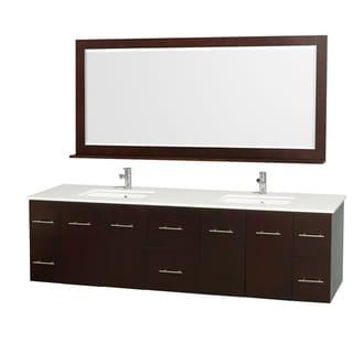 Wyndham Collection Espresso 80-inch Double Bathroom Vanity Set