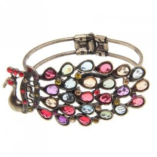 Handmade Peacock Multicolor Crystal Bangle (China)