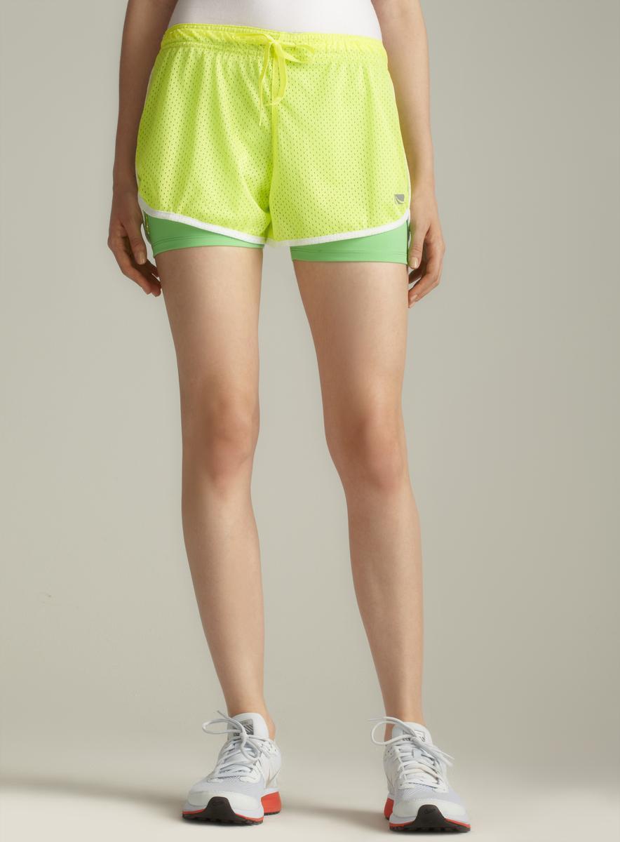 Marika Allover Mesh Running Shorts