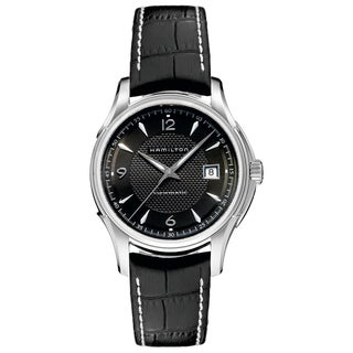 Hamilton Men's 'Jazzmaster Viewmatic' Black Dial Watch