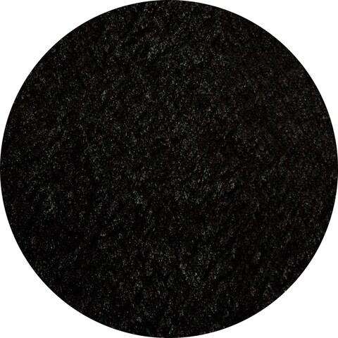 Momeni Luster Shag Black Hand-Tufted Shag Rug - 4' x 4' Round