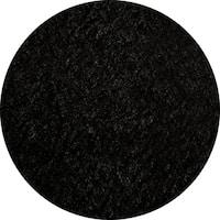 Momeni Luster Shag Black Hand-Tufted Shag Rug - 4' x 4'