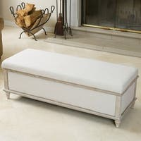 Abilene Light Beige Fabric Storage Ottoman Bench by Christopher Knight Home