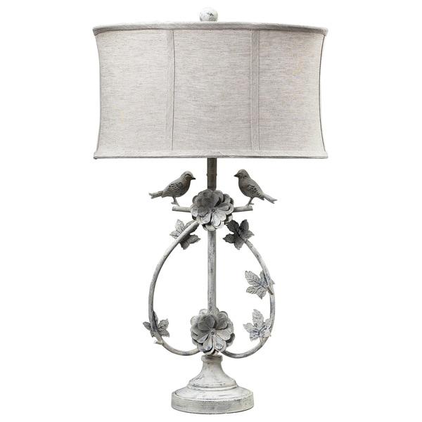 Dimond Lighting LED 1-Light Table Lamp in Antique White Finish