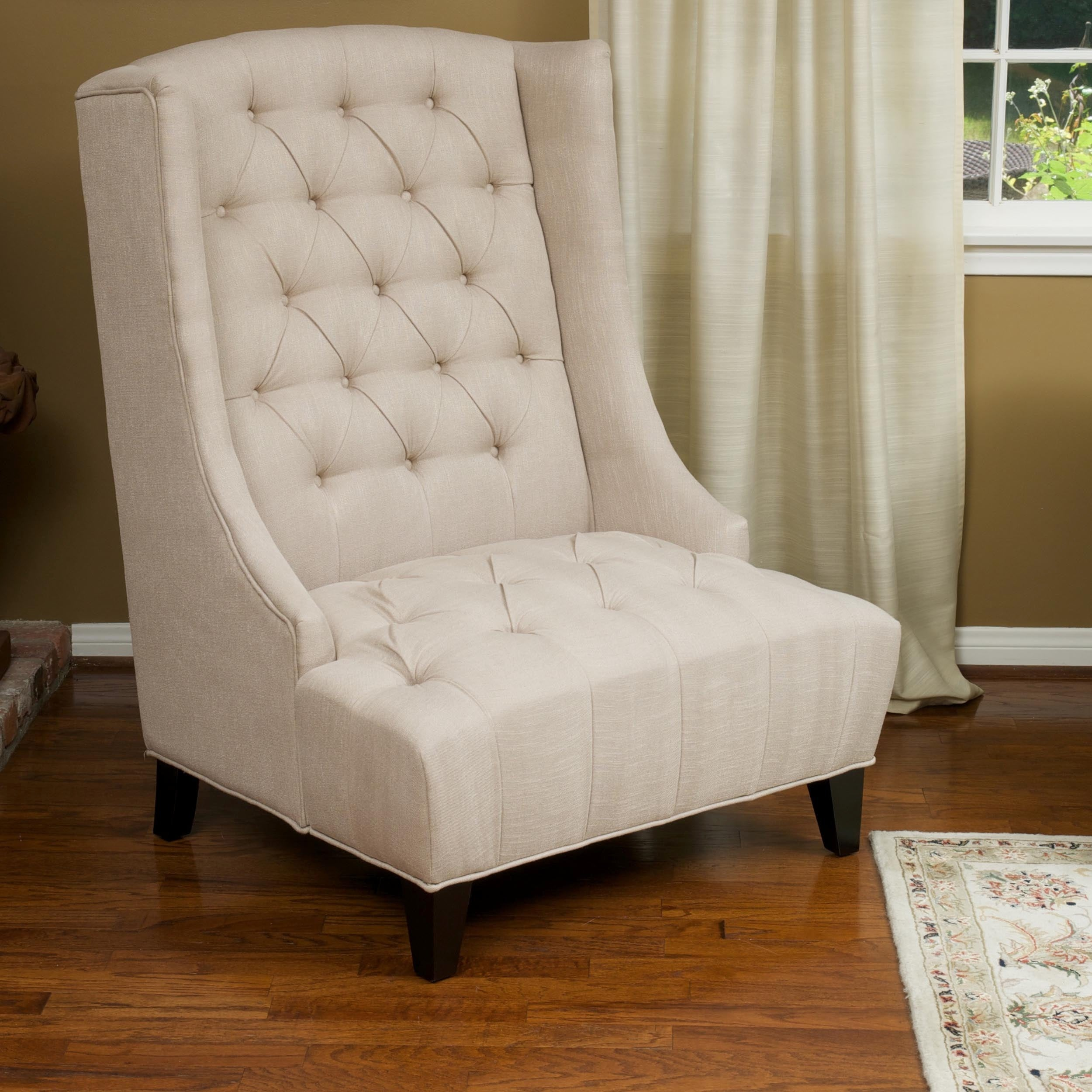 Miles Tall Wingback Accent Chair by Christopher Knight Ho...