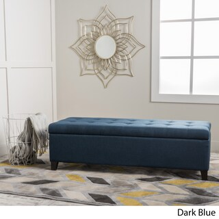 Mission Tufted Fabric Storage Ottoman Bench by Christopher Knight Home (More options available)