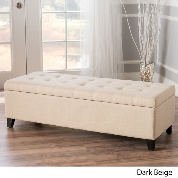 Surprising Shop Mission Tufted Fabric Storage Ottoman Bench By Andrewgaddart Wooden Chair Designs For Living Room Andrewgaddartcom